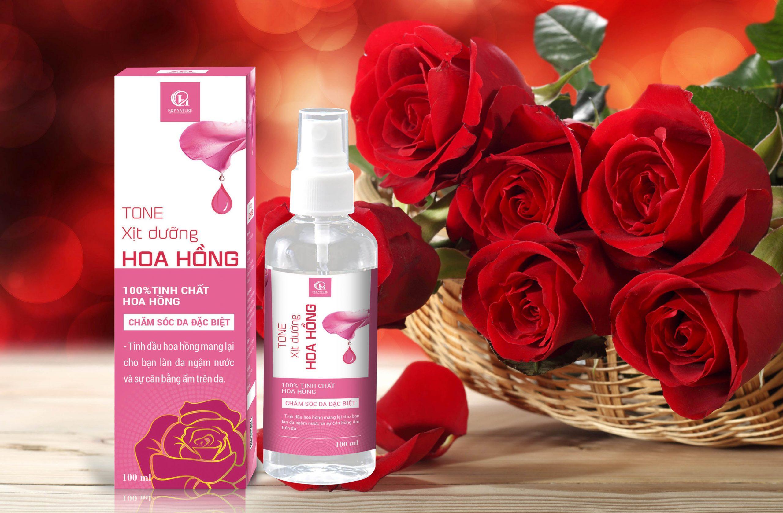 Công dụng của nước hoa hồng nguyên chất